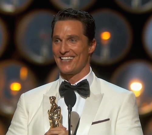 Entertainment : McConaughy Oscar's Speech…