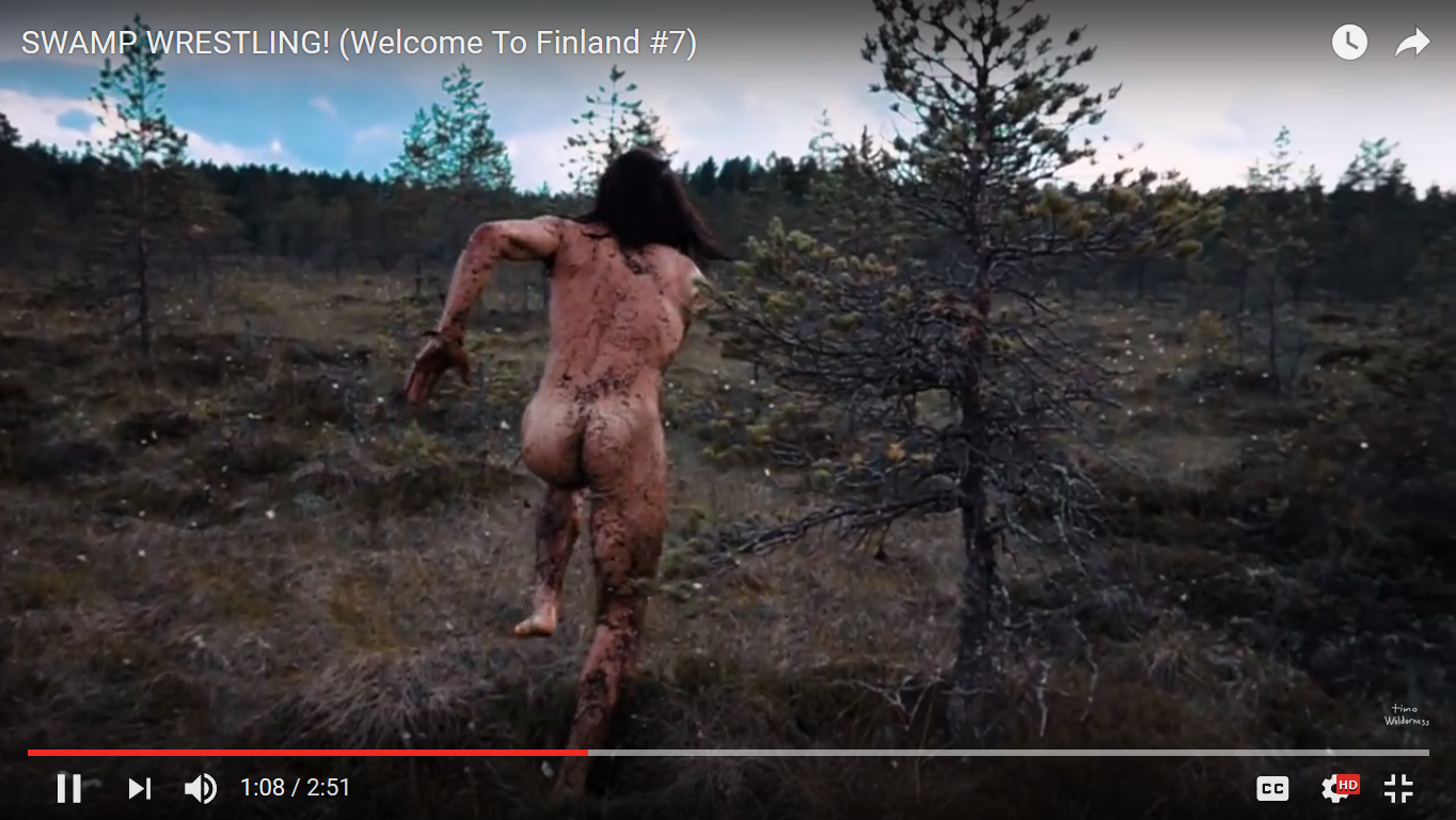 Sports : Mud Wrestling in the Nude Finnish Style