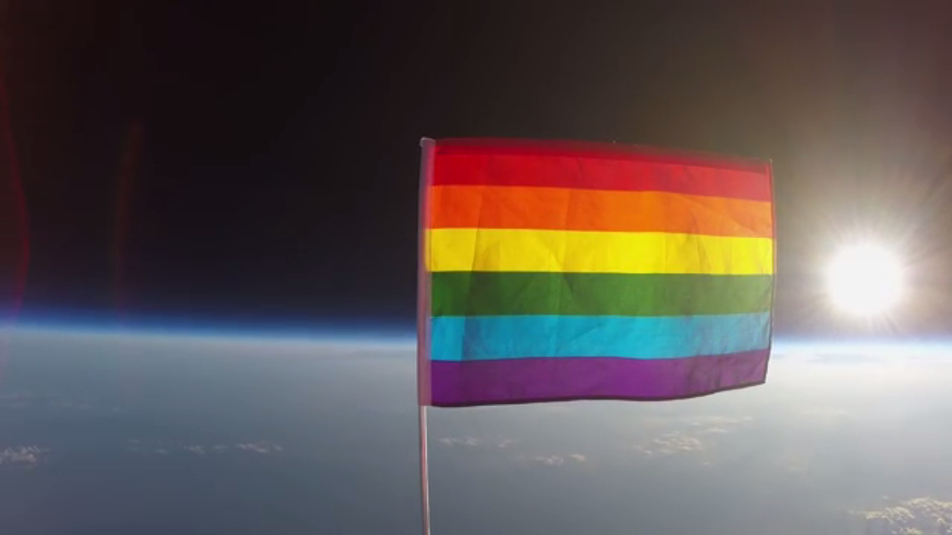 Watch This : Planting Peace Launched First Pride Flag in Space